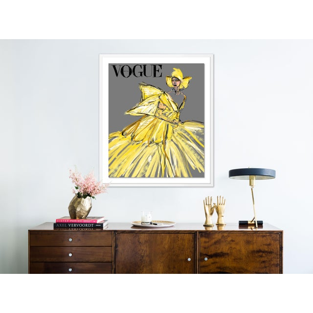 British Vogue August 2020 by Annie Naranian Image Size (WXH): 26x31 Mounting Style: Floated Frame Color: White Hanging...