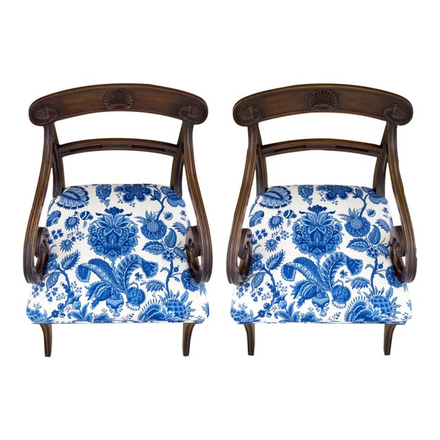 English Regency Carved Armchairs - A Pair - Image 9 of 10