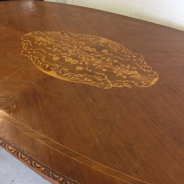 French Inlaid Ormolu Dining Table Desk For Sale - Image 4 of 13