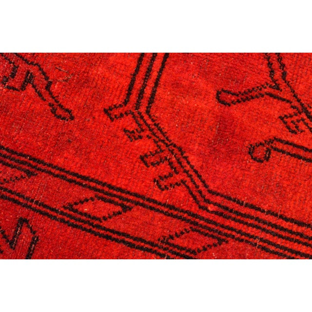 Turkish Hand-Knotted Red Overdyed Rug - 8′5″ X 11′8″ For Sale - Image 9 of 9
