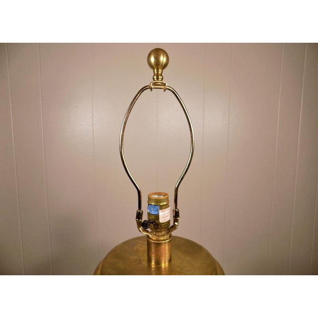 Chapman Brass & Hammered Metal Brutalist Lamp For Sale - Image 6 of 13