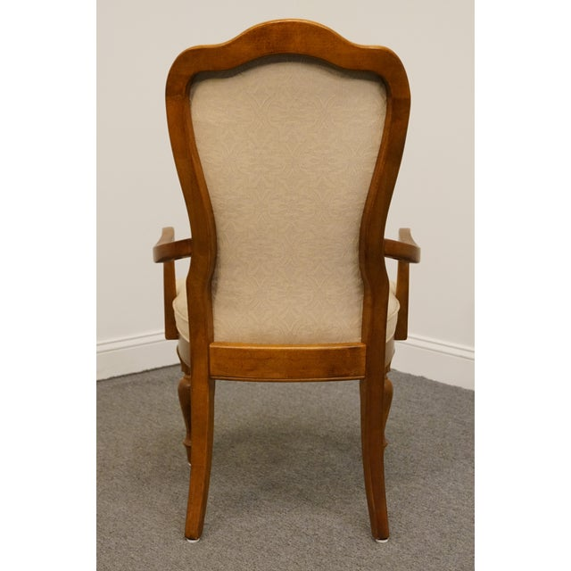 Late 20th Century Vintage Stanley Furniture Italian Tuscan Style Upholstered Dining Arm Chair For Sale In Kansas City - Image 6 of 9