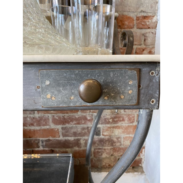 Antique Zinc and Marble Dry Sink Basin For Sale In Los Angeles - Image 6 of 11