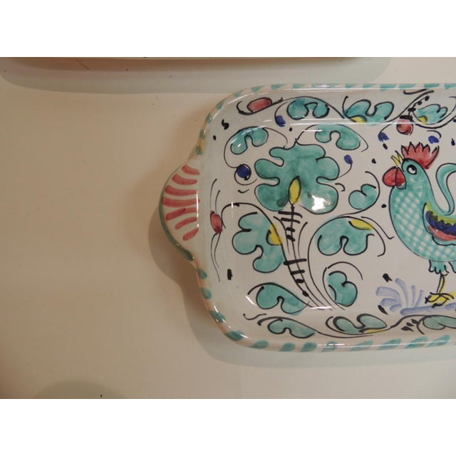 Hand Painted Ceramic Serving Dishes Set of (3) - Image 3 of 6