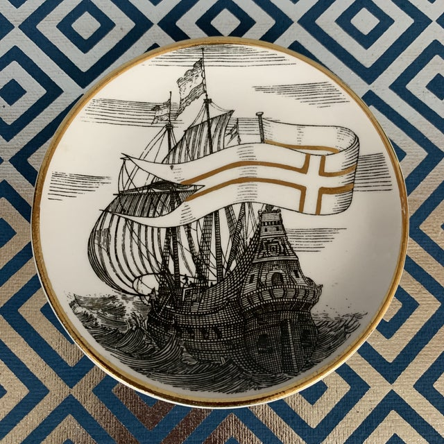 Fornasetti Vintage Cocktail Coasters - Set of 5 For Sale In Washington DC - Image 6 of 13