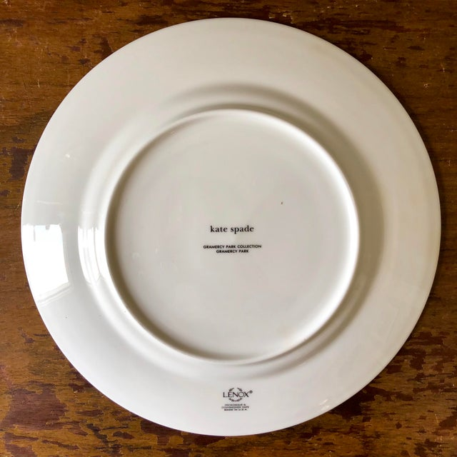 Abstract Gramercy Park Collection by Kate Spade for Lenox Luncheon Plates- a Pair For Sale - Image 3 of 4
