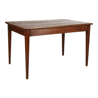 French Cherry Wood Dining Table For Sale