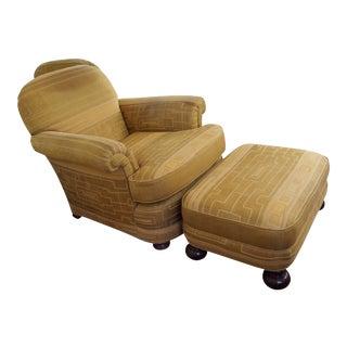 1940s Donghia Fabric Chair & Ottoman