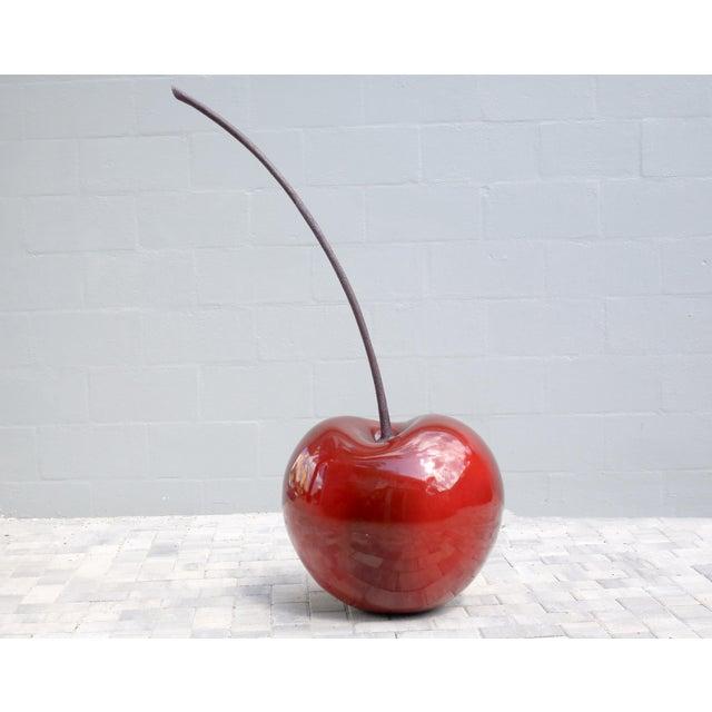 Monumental 4.5 Foot Tall Red Cherry Sculpture Pop Art A unique and beautiful, massive fiberglass sculpture of a ripe red...