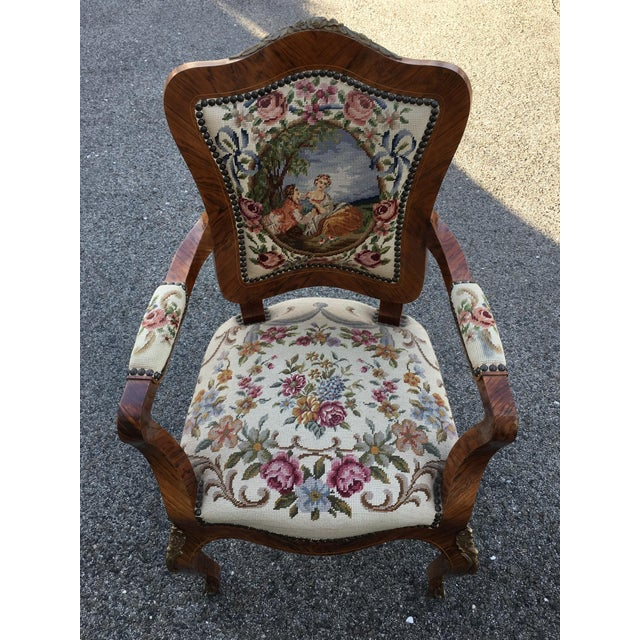 Brown 1900s Antique Accent Chair For Sale - Image 8 of 8