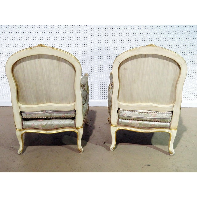 Louis XV Pair of Louis XV Style Fauteuils For Sale - Image 3 of 13