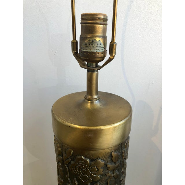 Mid 20th Century Mid Century Westwood Brass Floral Table Lamps For Sale - Image 5 of 7