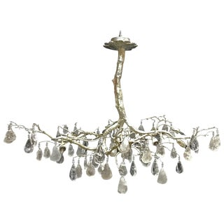 Modern Style Rock Crystal Tree Bronze Chandelier For Sale