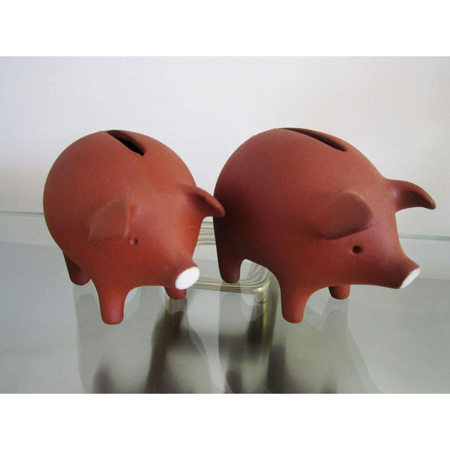 Danish Modern Danish Pottery Piggy Banks - A Pair For Sale - Image 3 of 8
