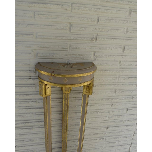 Gold Narrow Demilune Table and Sconce For Sale - Image 8 of 9