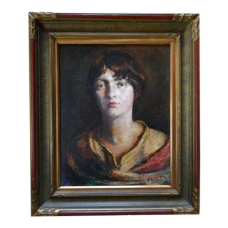 """A.j. Greene """"Portrait of a Young Girl"""" For Sale"""