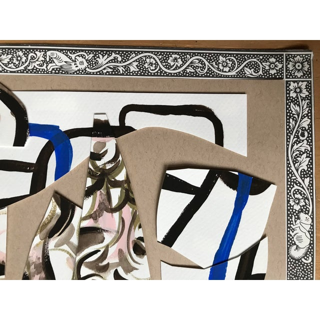 Contemporary Painting and Paper Collage by Artist Corinne Robbins For Sale - Image 4 of 7