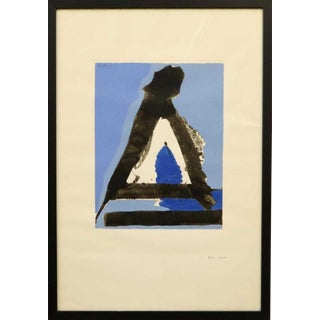 "1970s Vintage Robert Motherwell ""The Basque Suite"" No. 7 Print For Sale"