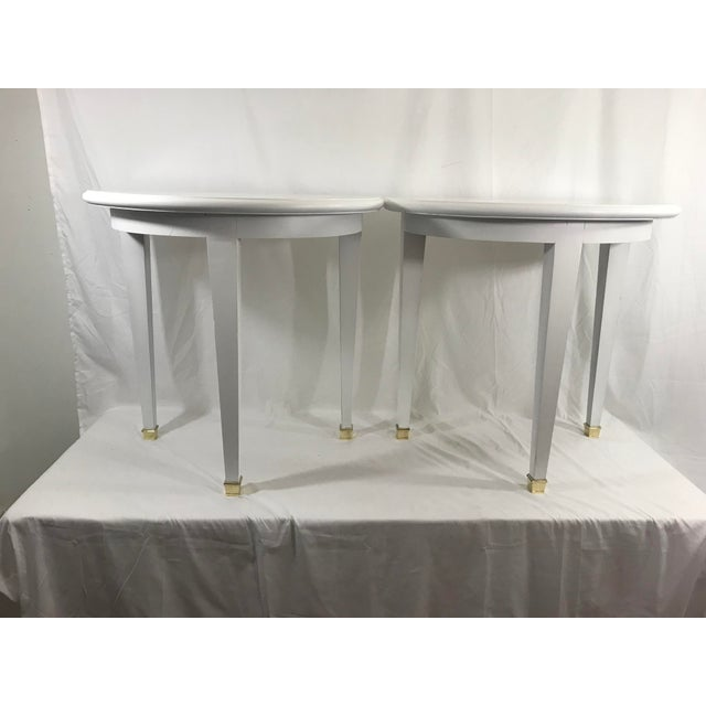 White FrenchWhite Lacquered Consoles - a Pair For Sale - Image 8 of 8