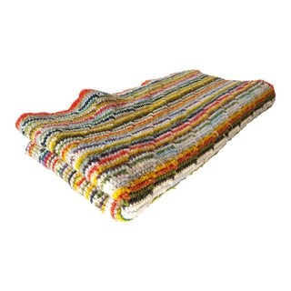 Late 20th Century Rainbow Striped Throw Blanket For Sale