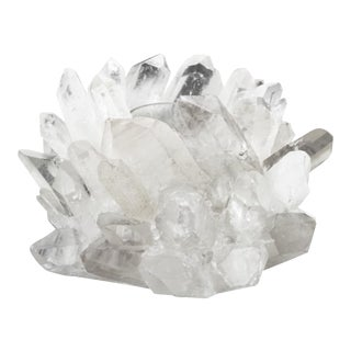 Williams Sonoma Home Clear Quartz Votive Holder For Sale