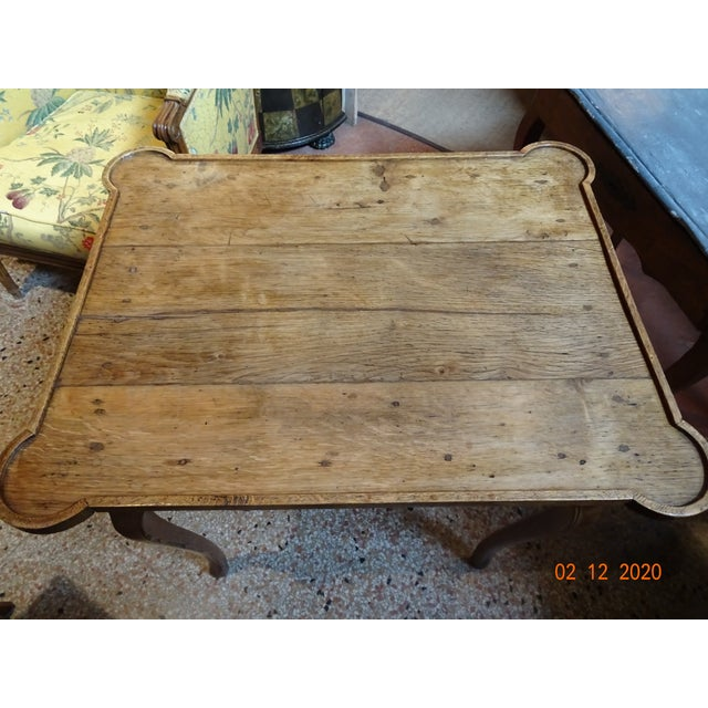 French Mid 19th Century French Oak Side Table For Sale - Image 3 of 11