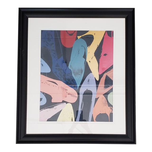 1980s Warhol Shoes Framed Print For Sale