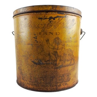 Antique Campbell Coffee Tin With Camels For Sale
