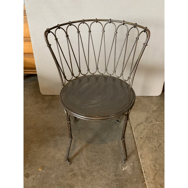2000 - 2009 Art Deco Metal Bistro Chair For Sale - Image 5 of 5