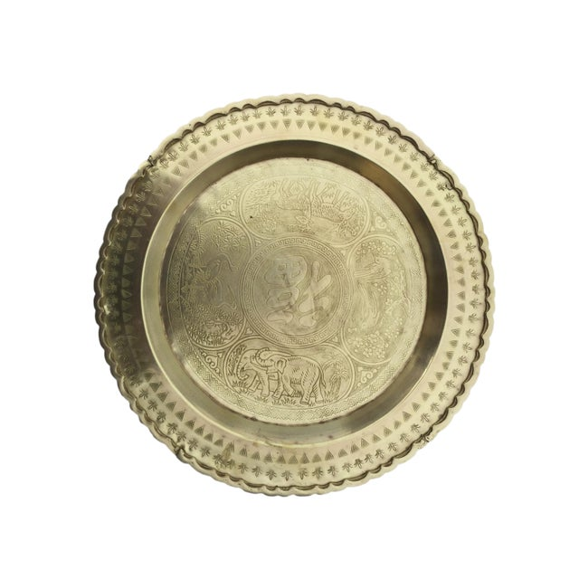 Mid 20th Century Vintage Brass Tray For Sale - Image 5 of 6