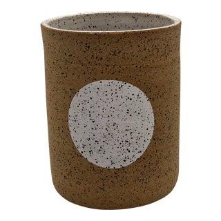 Handmade White Dot Ceramic Wheel Thrown Vase