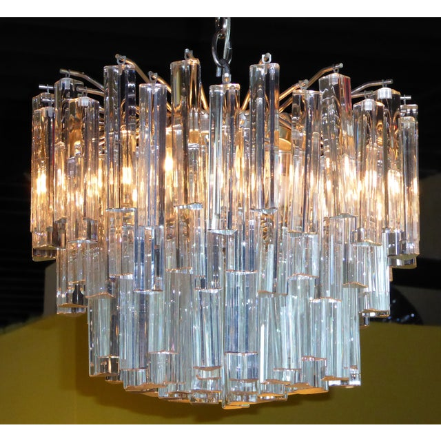 1960s Mid-Century Modern Lush Camer Glass Chandelier For Sale In Miami - Image 6 of 11