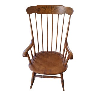 1970s Wooden Rocking Chair For Sale