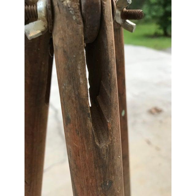 Antique Wood Surveyor's Tripod For Sale - Image 5 of 7