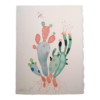 """Cactus Mix"" Watercolor Painting For Sale"