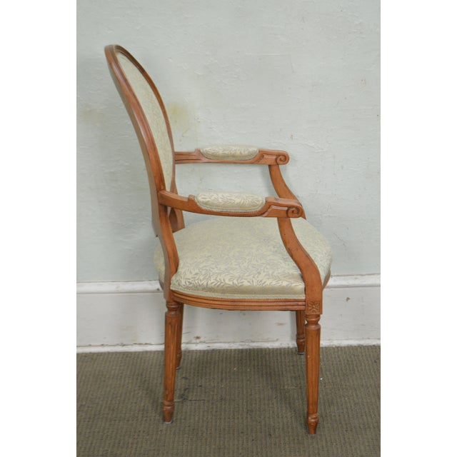 Louis XVI Statesville Chair Co. Set of 10 Walnut Frame French Louis XV Style Dining Chairs For Sale - Image 3 of 10