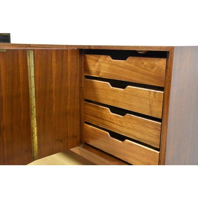 Mid Century Walnut 12 Drawer Dresser - Image 6 of 11