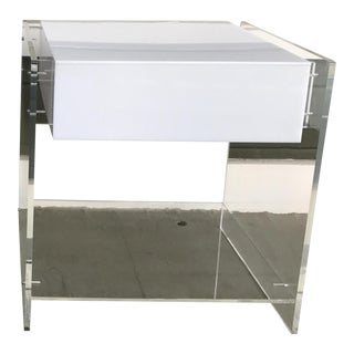 1970s Attributed to Kartell Italian Lucite End Table