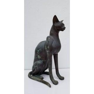 1960s Vintage Bronze Cat Sculpture Preview