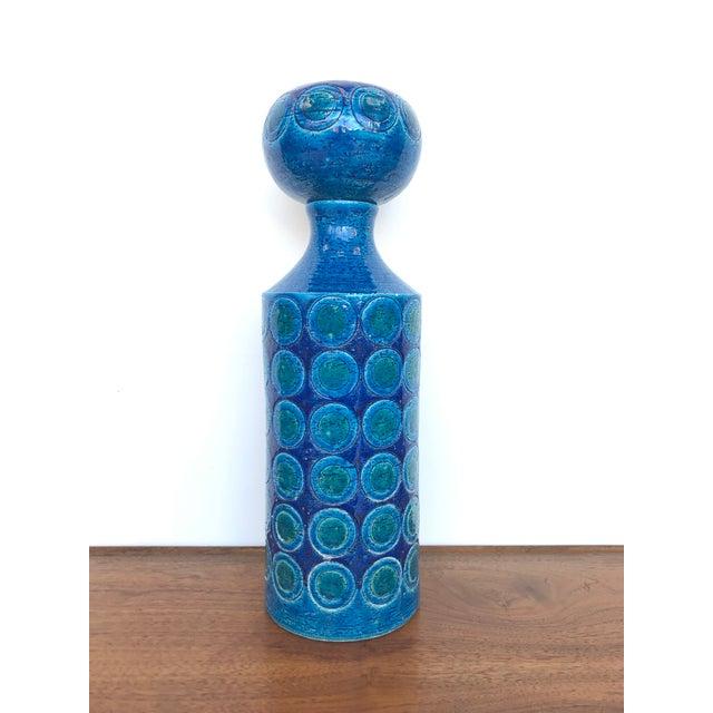 1960s Aldo Londi for Bitossi Rosenthal-Netter Ceramic Decanter For Sale - Image 10 of 10