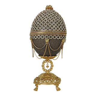1990s Jeweled Ostrich Egg For Sale