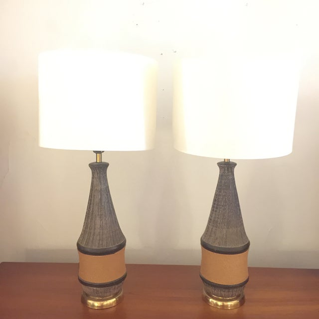Modern Bitossi Italy Ceramic Rope Lamp, 1960s - A Pair For Sale - Image 3 of 11