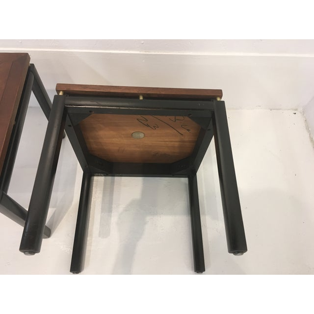 Metal Michael Taylor/ Baker Funiture Side Tables - a Pair For Sale - Image 7 of 10