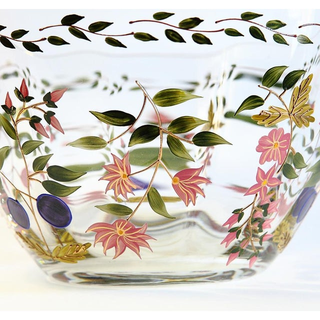 Vintage Hand Painted Glass Bowl - Image 5 of 8