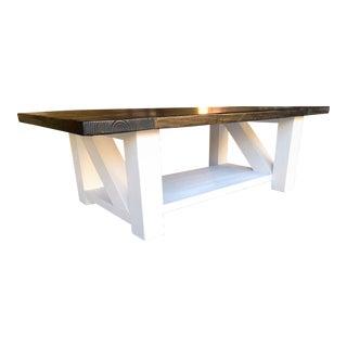 Farmhouse White Coffee Table