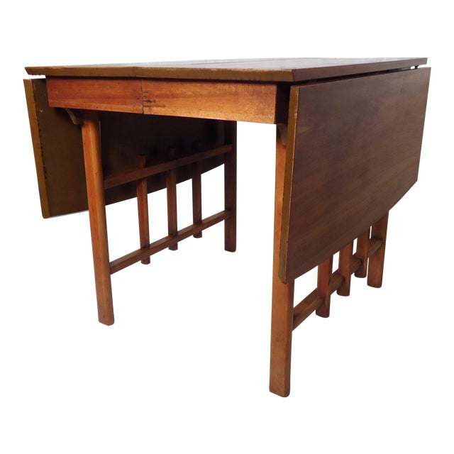 MidCentury Modern Drop Leaf Table Chairish - Mid century modern gateleg table