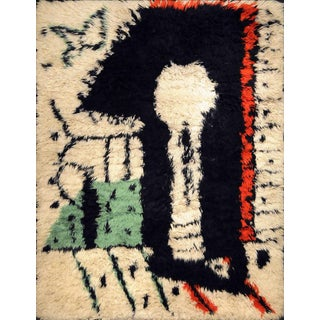 "Rare Rug Designed by Pablo Picasso, ""La Serrure,"" Circa 1955 For Sale"