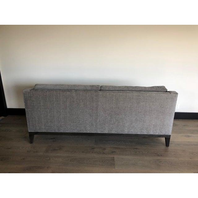 Modern Gray Upholstered Sofa For Sale - Image 4 of 9