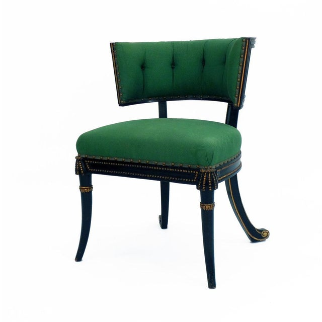 Not Yet Made - Made To Order Windsor Model Regency Style Tufted Cove Back Chair For Sale - Image 5 of 6