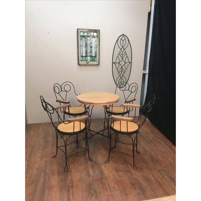 Vintage Cafe Dining Set - Image 4 of 6